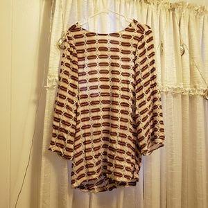 Acacia tortolla dress in tribal ombre print